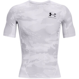 Under Armour HeatGear Isochill Printed Short Sleeve Shirt Men white-black